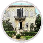 Do-00461 Yazbeck Palace Round Beach Towel