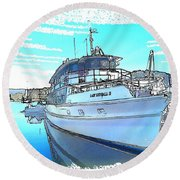 Do-0149 Lady Kendall Round Beach Towel
