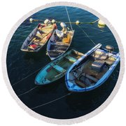 Docked Round Beach Towel