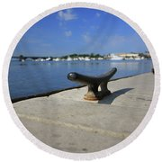 Dock's View Round Beach Towel