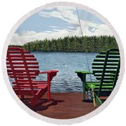 Dockside Round Beach Towel