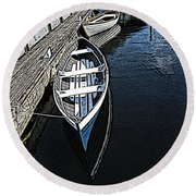 Dockside Quietude Round Beach Towel
