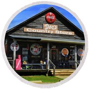Doc's Country Store Round Beach Towel