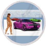 Dodge 1 Round Beach Towel