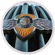 Dodge Brothers Emblem Jerome Az Round Beach Towel