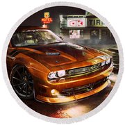 Dodge Challenger R T Round Beach Towel