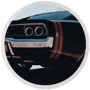 Dodge Charger - 04 Round Beach Towel
