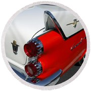 Dodge Coronet Tail Fin Round Beach Towel