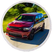 Dodge Durango Srt 2018 Round Beach Towel