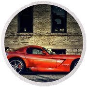 Dodge Viper Round Beach Towel