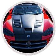 Dodge Viper Roadster Round Beach Towel