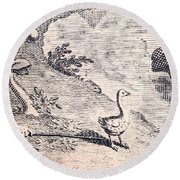 Dodo Bird, Hunted To Extinction Round Beach Towel