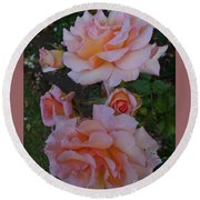Does Roses Has Thorns Or Does Thorns Has Roses Round Beach Towel