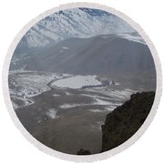 Dog Lake From Mt Clemons Round Beach Towel