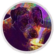 Dog Terrier Russell Pet Animal  Round Beach Towel