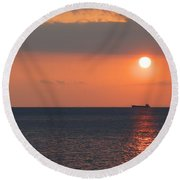 Dogashima Sunset Round Beach Towel