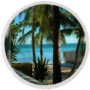 Dog's Beach Key West Fl Round Beach Towel