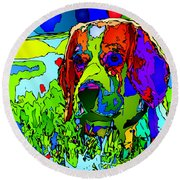 Dogs Can See In Color Round Beach Towel