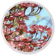 Dogwood Flowering Trees Pink Dogwood Flowers Baslee Troutman Round Beach Towel