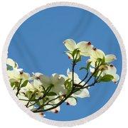 Dogwood Flowers Art Prints White Flowering Dogwood Tree Baslee Troutman Round Beach Towel
