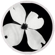 Dogwood In Days Now Past Round Beach Towel