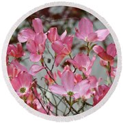 Dogwood Trees Flower Blossoms Art Baslee Troutman Round Beach Towel