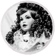 Doll 66 Round Beach Towel