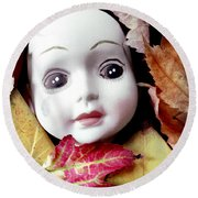 Doll Round Beach Towel