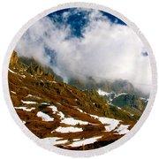 Dolomites 2 Round Beach Towel