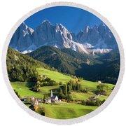 Dolomites, Italy #3 Round Beach Towel