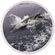 Runnin' Dolphin  Round Beach Towel