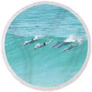 Dolphin Team Round Beach Towel