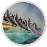 Dolphins Round Beach Towel