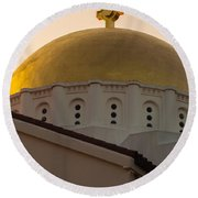 Dome And Cross At St Sophia Round Beach Towel