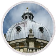 Dome In The Clouds Round Beach Towel