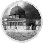 Dome Of The Rock - Jerusalem Round Beach Towel