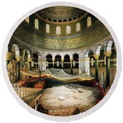 Dome Of The Rock, Jerusalem, 1862 Round Beach Towel