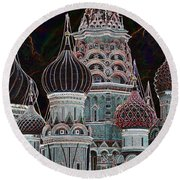 Domes Of St. Basil Cw Round Beach Towel