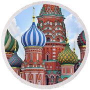 Domes Of St. Basil Round Beach Towel