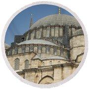 Domes Of Suleymaniye Mosque Round Beach Towel