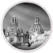 Domes Round Beach Towel by Stefano Senise