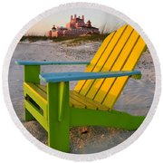 Don Cesar And Beach Chair Round Beach Towel