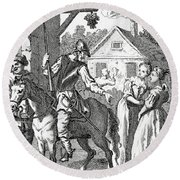 Don Quixote And Sancho Panza By William Round Beach Towel