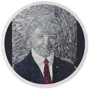 Donald J. Trump  Round Beach Towel