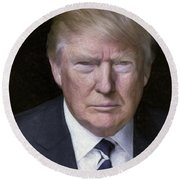 Donald Trump Round Beach Towel
