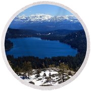 Donner Lake Round Beach Towel