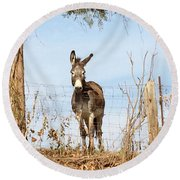 Don't Be A Stranger Round Beach Towel