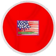 Don't Play The Anthem At Any Sporting Events. Round Beach Towel