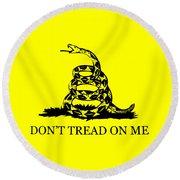 Don't Tread On Me Flag Round Beach Towel