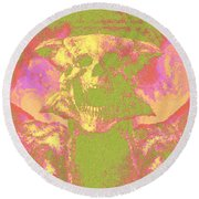 Doom 3 Resurrection Of Evil Round Beach Towel